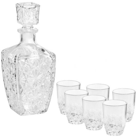 Bormiolo-Rocco 7-pc. Dedalo Liquor Set