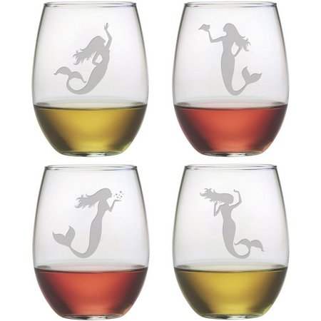 Susquehanna Glass 4-pc. Mermaid Shape Stemless Set