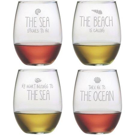Susquehanna Glass 4-pc. Beach Stemless Goblet Set