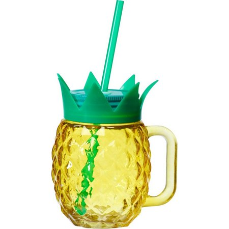 New! Global Amici Glass Pineapple Mason Jar