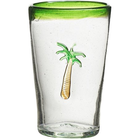 Amici Home Palm Tree Highball Glass