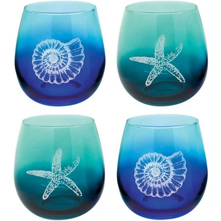 Coastal Home 4-pc. Ombre Stemless Goblet Set