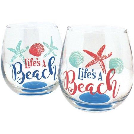 Coastal Home 2-pc. Life's A Beach Stemless Set