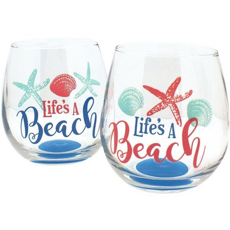 Coastal Home 2-pc. Life's A Beach Stemless Set