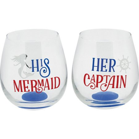 TMD Holdings 2-pc. Hers & His Stemless Goblet