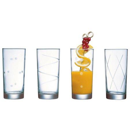 Luminarc Soho 4-pc. Etched Cooler Glass Set