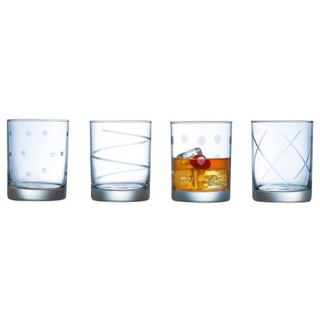 Luminarc Soho 4-pc. Etched DOF Glass Set