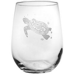 Rolf Glass Sea Turtle 17 oz. Stemless Goblet
