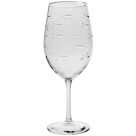 Rolf Glass 4-pc. School of Fish Wine Glass