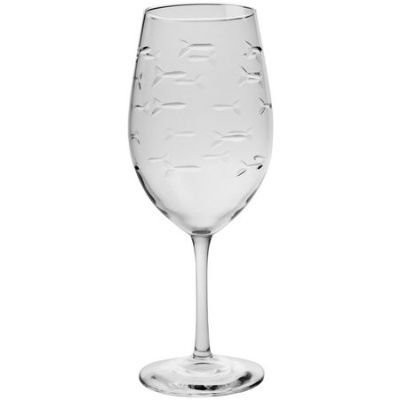 Rolf Glass School of Fish 18 oz. Wine