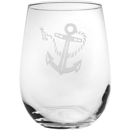 Rolf Glass Rope and Anchor 18 oz. Stemless