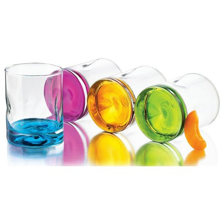 Libbey 4-pc. Impressions Colors DOF Glass Set