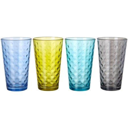 Libbey Awa Cool Color 4-pc. Highball Glass Set