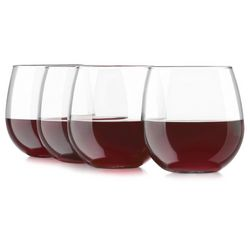 Libbey 4-pc. Stemless Red Wine Goblet Set