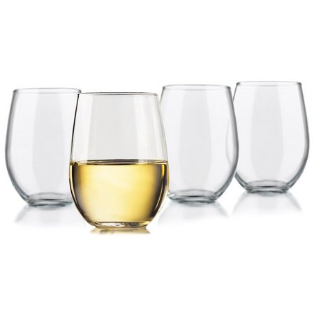 Libbey 4-pc. Stemless White Wine Goblet Set