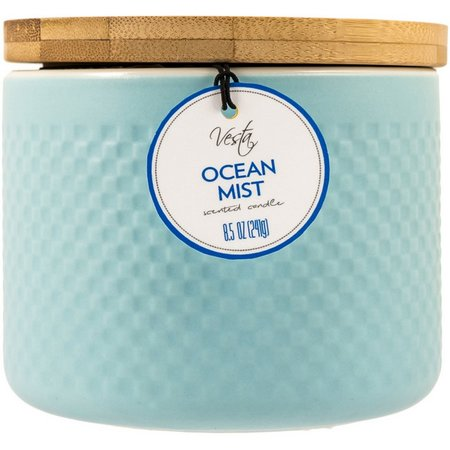 Vesta 8.5 oz. Ocean Mist Jar Candle