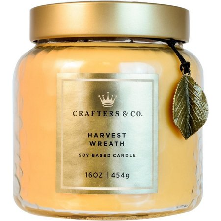 Crafters & Co. 16 oz Harvest Wreath Soy