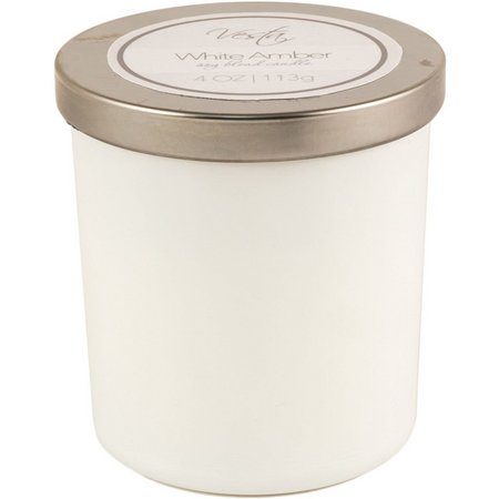 Vesta 4 oz. White Amber Soy Jar Candle