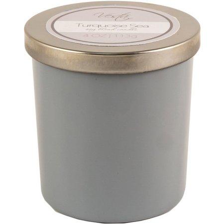 Vesta 4 oz. Turquoise Sea Soy Jar Candle
