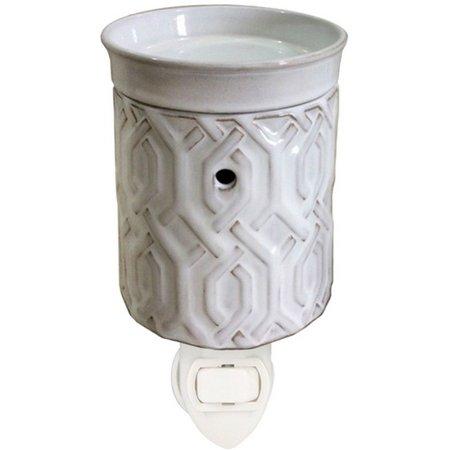 Hallmark White Trellis Plug-in Wax Warmer