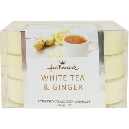 Hallmark 12-pk. White Tea & Ginger Scented Tealight