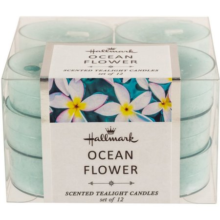 Hallmark 12-pk. Ocean Flower Scented Tealight Candles