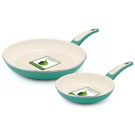 GreenPan Focus 2-pc. Turquoise Fry Pan Set