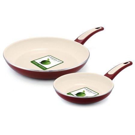 GreenPan Focus 2-pc. Burgandy Fry Pan Set