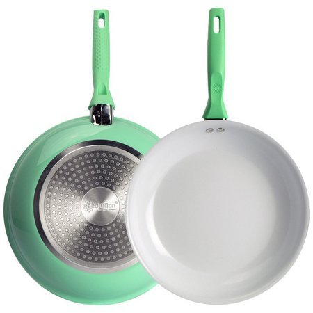 Ecolution Bliss 9.5'' Green Ceramic Fry Pan