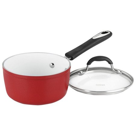 Cuisinart Elements 2 qt. Red Saucepan with Lid