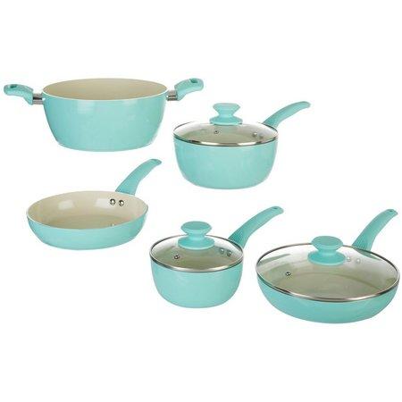 IKO 8-pc. Crema Aqua Green Cookware Set