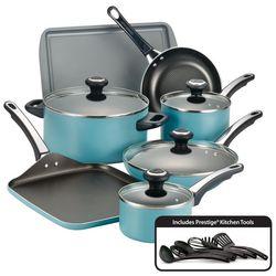 Farberware Performance Aqua 17-pc. Cookware Set