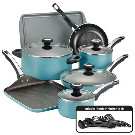 Farberware Performance Aqua 17-pc. Cookware Set