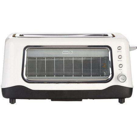 Dash Clear View White Toaster