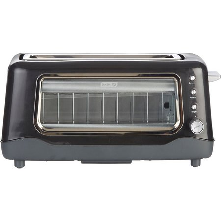 Dash Clear View Black Toaster