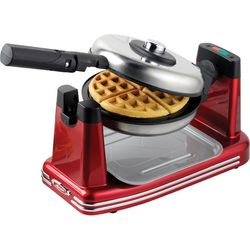 Nostalgia Electric RFW600 Red Flip Waffle Maker