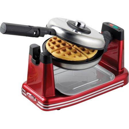 Nostalgia Electric RFW600 Red Flip Waffle Maker