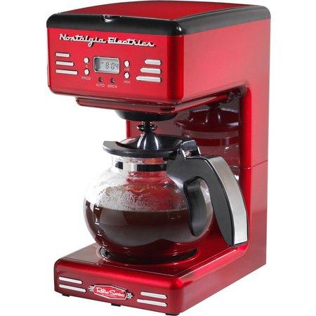 Nostalgia Electric RCOF120 Retro Red Coffee Maker