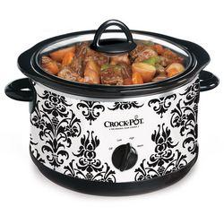 Crock-Pot 4.5 qt. Damask Print Slow Cooker