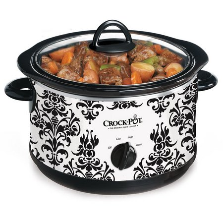 Crock-Pot 4.5-qt. Damask Print Slow Cooker