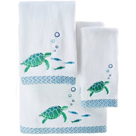 CHF Sea Turtle Embroidered Bath Towel Collection