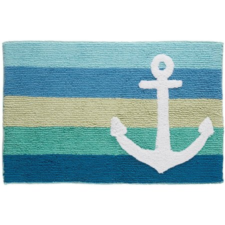 Destinations Anchor Stripe Bath Rug