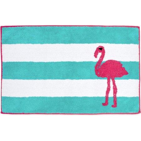 CHF Flamingo Stripe Bath Rug