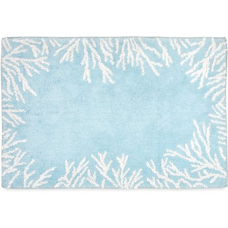 CHF Sea Reef Coral Border Bath Rug