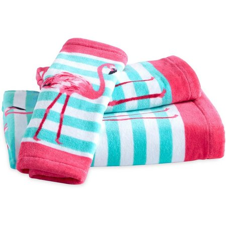 CHF Flamingo Print Bath Towel Collection