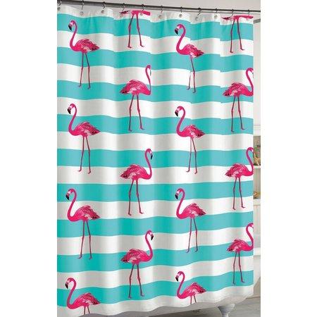 CHF Flamingo Stripe Shower Curtain