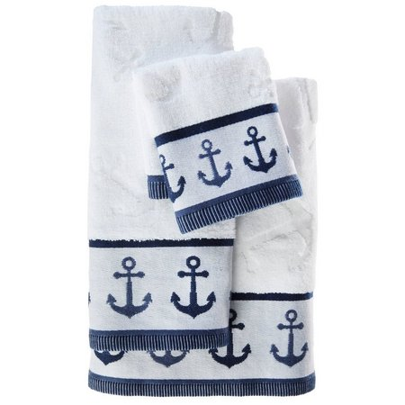 Kingsley Anchors Away Border Bath Towel Collection