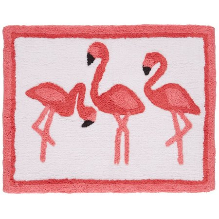 Kinglsey Flamingo Flamboyance Bath Rug