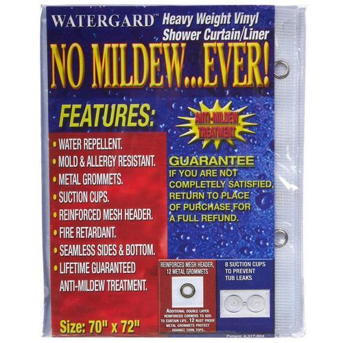 Heavy Weight Frosty Vinyl Shower Curtain Liner Bealls