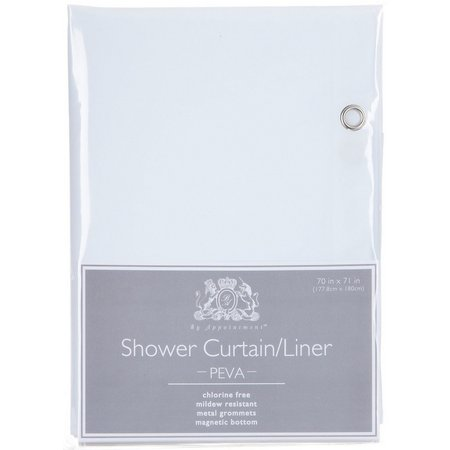 Excell Home Peva White Shower Curtain